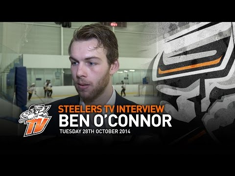 Sheffield Steelers - Ben O'Connor Interview - Tuesday 28th October 2014