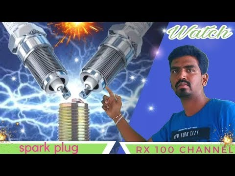 How to clean spark plug of any bike /The best way to clean spark plug to work like new / RX100 Tamil