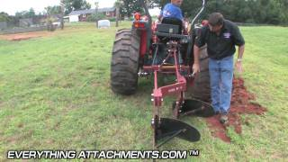 How To Plow a Garden - Two Bottom Plow