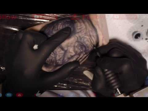 TATTOO on fake skin, real time  , by Cris Gherman