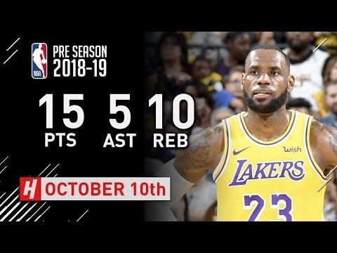 LeBron James SICK Highlights Warriors vs Lakers - 2018.10.10 - 15 Pts, 10 Reb, 5 Ast, BEAST!