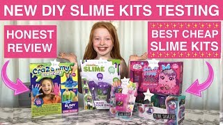 Best DIY Slime Kits Testing | Cheap UK Slime Kits | Smiggle Claires & Entertainer | Ruby Rose UK