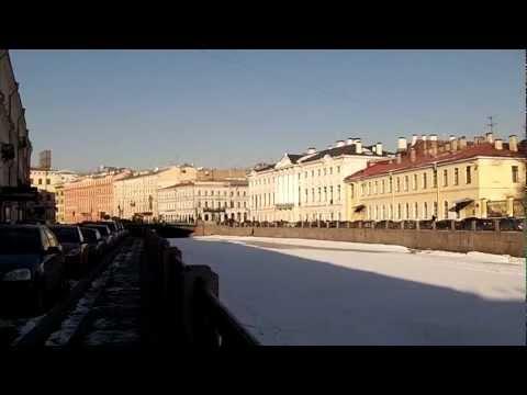 San Petersburgo, Rusia, rio Moika congelado