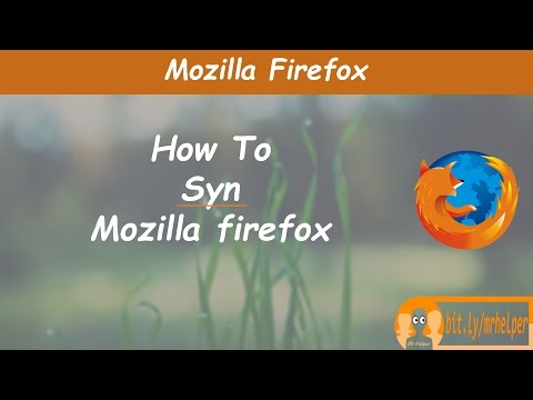 How Do I Set Up Firefox Sync?