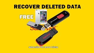 How to recover deleted data from any media in Hindi