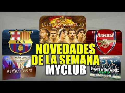 LEYENDAS, MONEDAS, BARCELONA Y ARSENAL SELECTION, DESAFÍOS NOVEDADES DE LA SEMANA myClub PES 2019