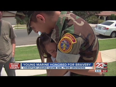 Young Marine Reunites With Girl He Helped Save