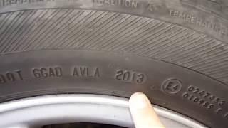 видео Где на шинах указан год выпуска? Маркировка шин