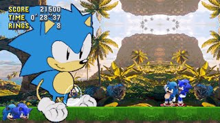 Movie Baby Sonic Mania Plus Mod Playable + Hesse Sonic Boss Fight Mod
