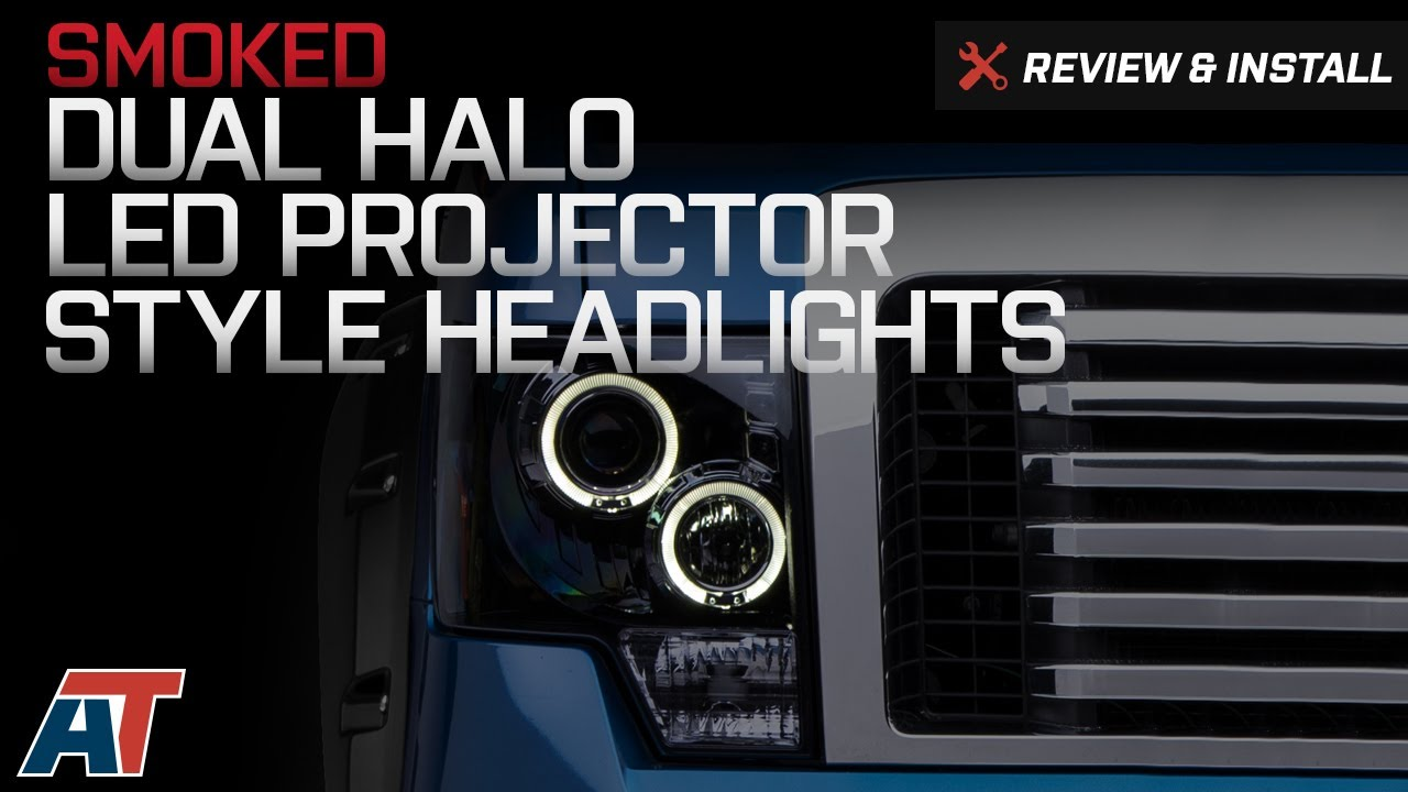 How to Install Smoked Dual Halo LED Projector Style ... Halo Led Projector Wiring Diagram on