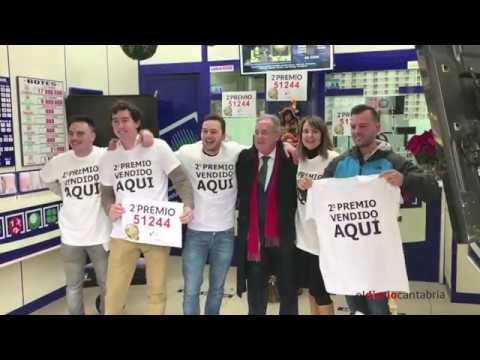 SEGUNDO PREMIO LOTERIA DE NAVIDAD 2017 SANTANDER
