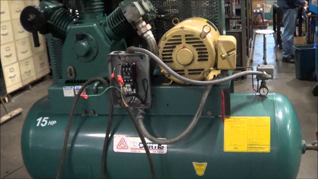 Fs Curtis 15 Hp Model E 15 Air Compressor Ac2012 Youtube