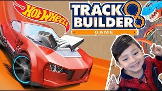 Hot Wheels Track Builder Game   Pista Tiburon Hot Wheels Increible    Juegos para niños