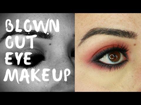 Blown Out Coral Eye Makeup Tutorial