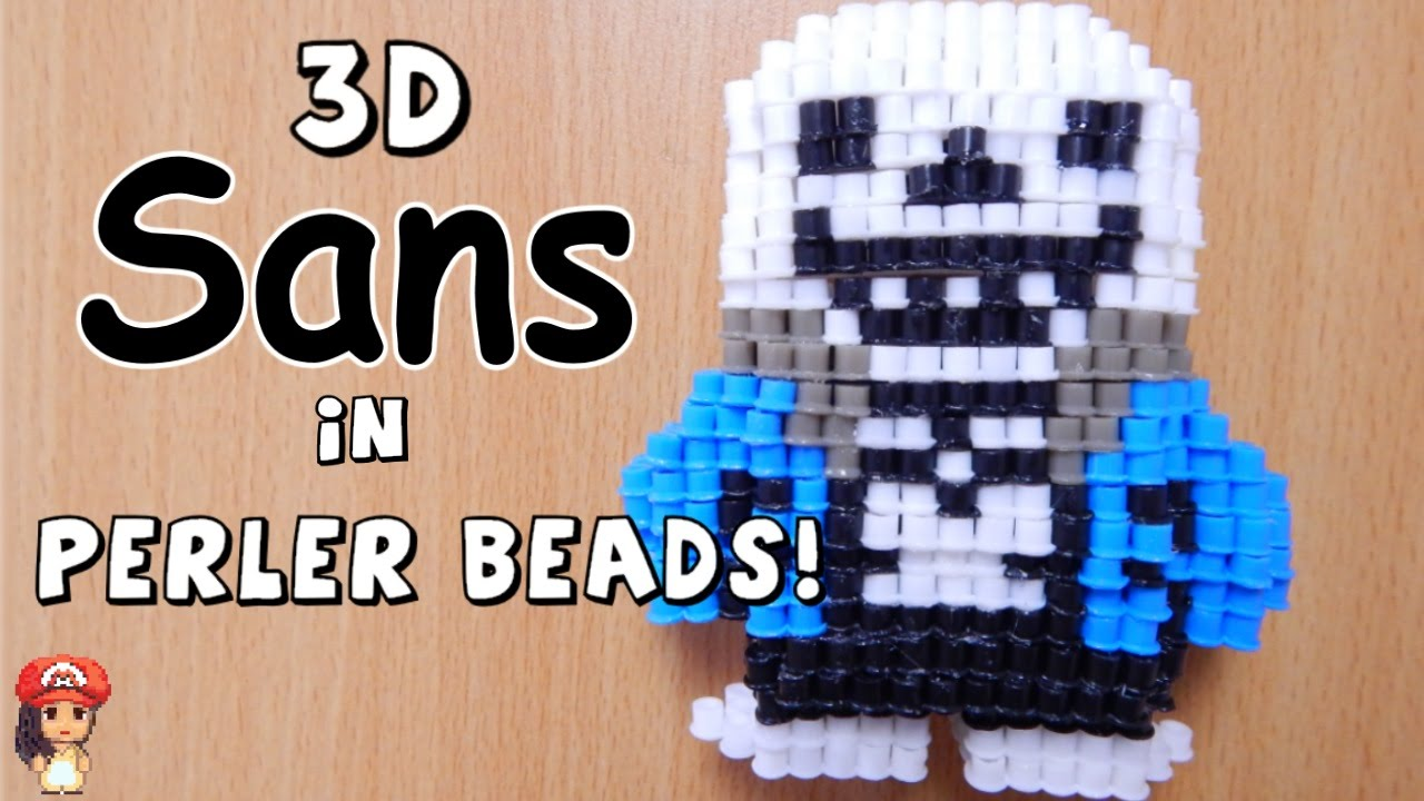 How to how to make phone cases out of paper : 3D Perler Bead Tutorial SANS (Undertale) - YouTube