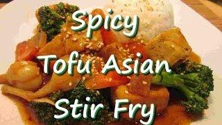 Asian Tofu Broccoli Stir Fry With Rice Recipe