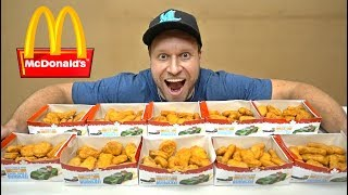 200 McDONALD's CHICKEN NUGGETS MONOPOLY CHALLENGE!