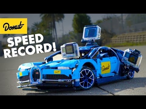 Watch 'Fastest' Lego Bugatti Chiron Shatter Into Pieces