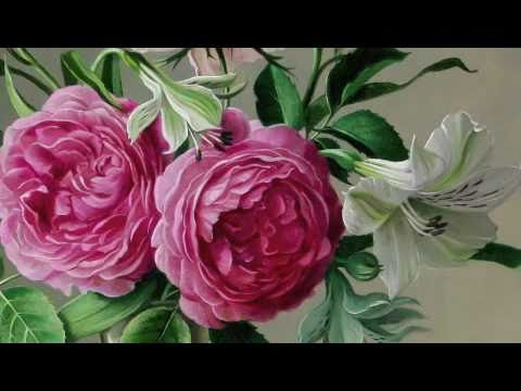 Flowers oil paintings youtube for How to oil paint flowers