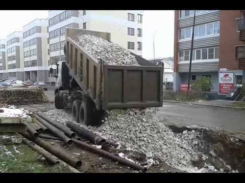 УралАвтоСтрой.  Доставка щебня фр.40/70