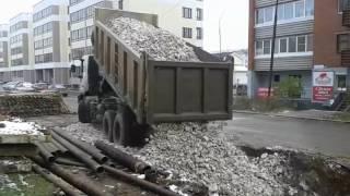 УралАвтоСтрой.  Доставка щебня фр.40-70  18м3(, 2016-11-14T08:11:28.000Z)