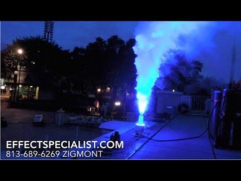 Demo  Cryo Co2 FX LED  - Hanson  dmx jet at Theme Park   By effectspecialist.com