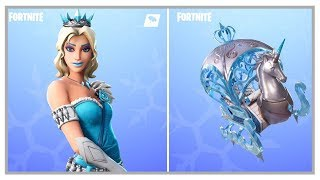 Fortnite: New Glimmer Skin (Elsa) + Flurry Axe & Crystal Carriage