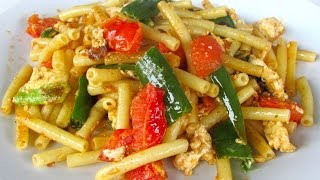 Maccheroni Green Chilli - Quick Pasta Recipe