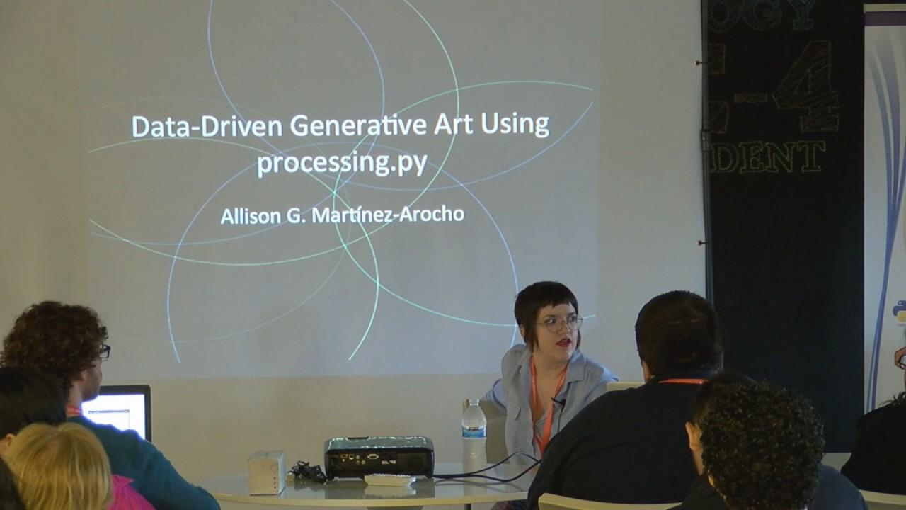 Image from Data Driven Generative Art Using Processing py - Allison Martinez