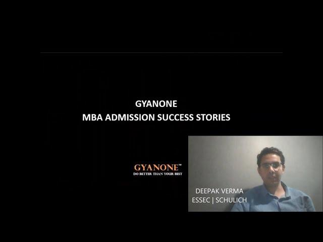 GyanOne MBA Admissions Consultants ESSEC Schulich Admit