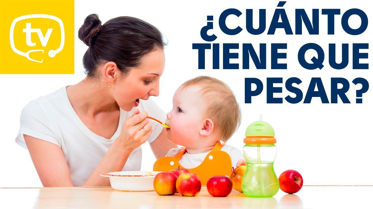Cu nto peso tiene que ganar mi beb youtube - Cuanto debe pesar un bebe de 5 meses ...