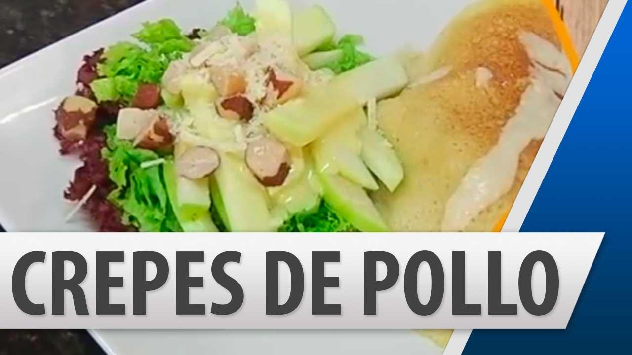 Crepes de pollo con champi ones recetas de cocina youtube - Como se hace pollo en salsa ...