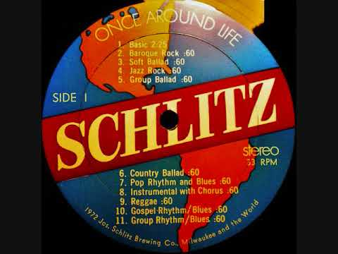 SCHLITZ BEER ONCE AROUND LIFE 1972 RADIO MUSIC IN STEREO LP VINYL RECORD