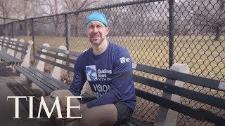 This Blind Runner Is The First To Run The NYC Half Marathon Guided Only By Dogs | TIME