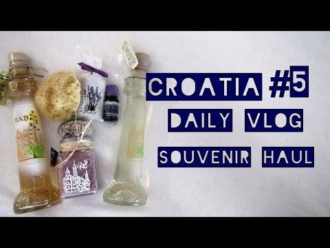 croatia daily vlog #5 souvenir haul
