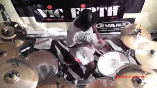 Heart - Barracuda, 10 Year Old Drummer, Jonah Rocks