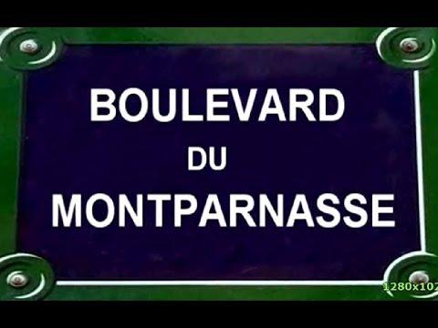 Boulevard   du  Montparnasse Paris Arrondissement 6, 14 et 15es