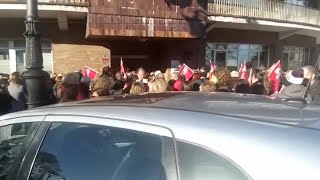 Manifestación de trabajadores del ERA