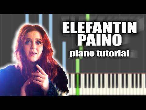 Ellinoora - Elefantin Paino | PIANO TUTORIAL