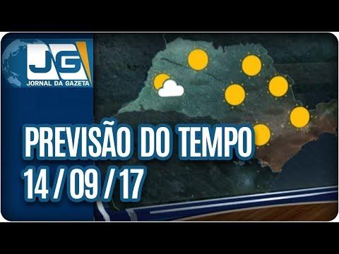 Previsão do Tempo - 14/09/2017