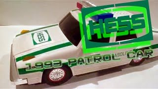 video review of the hess toy truck 1993 hess patrol car