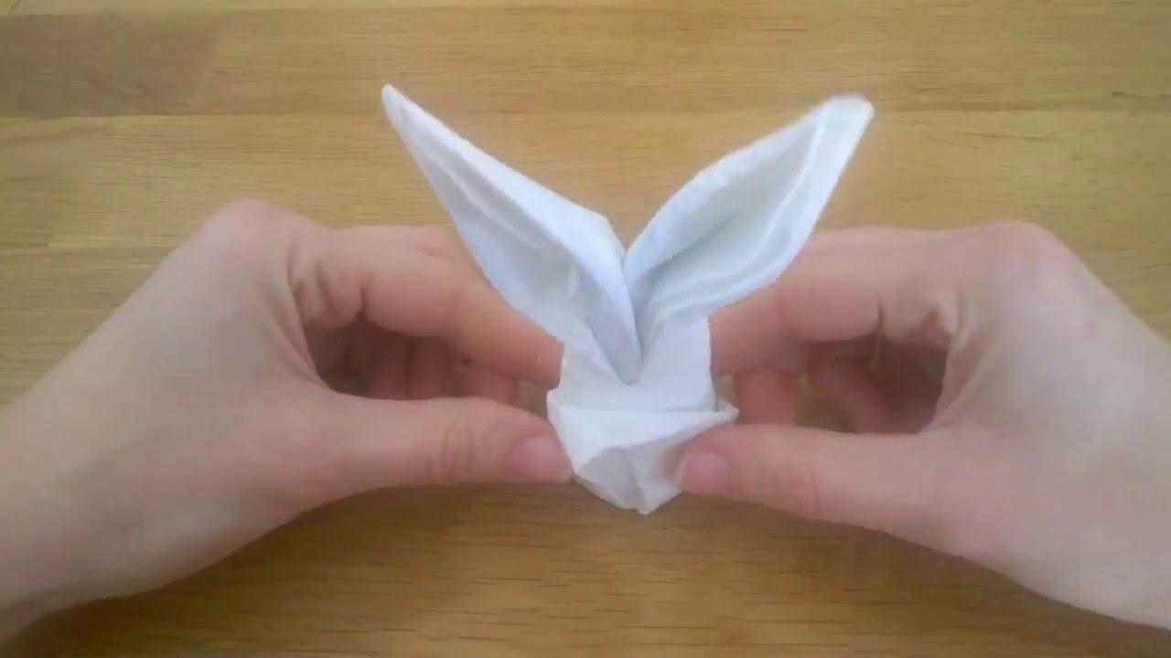 Piegare Asciugamani Forme : Come piegare il tovagliolo coniglietto pasquale youtube