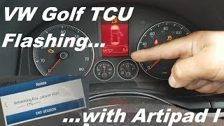 Flashing/Programming VW Golf TCU with Topdon Artipad I