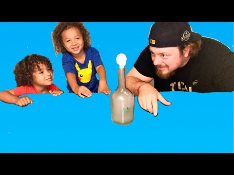 TEST | Egg In A Bottle Experiment (Fail?) | Easy Science Experiments To Do At Home | DIY Family 5!