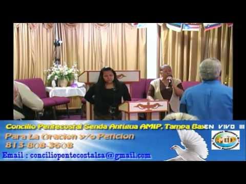 Culto Evangelistco Concilio Pentecostal Senda Antigua AMIP Tampa Bay. - 07-24-2016