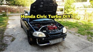 D16 Turbo Honda civic ek hatch Ebay Emusa Turbo DIY install