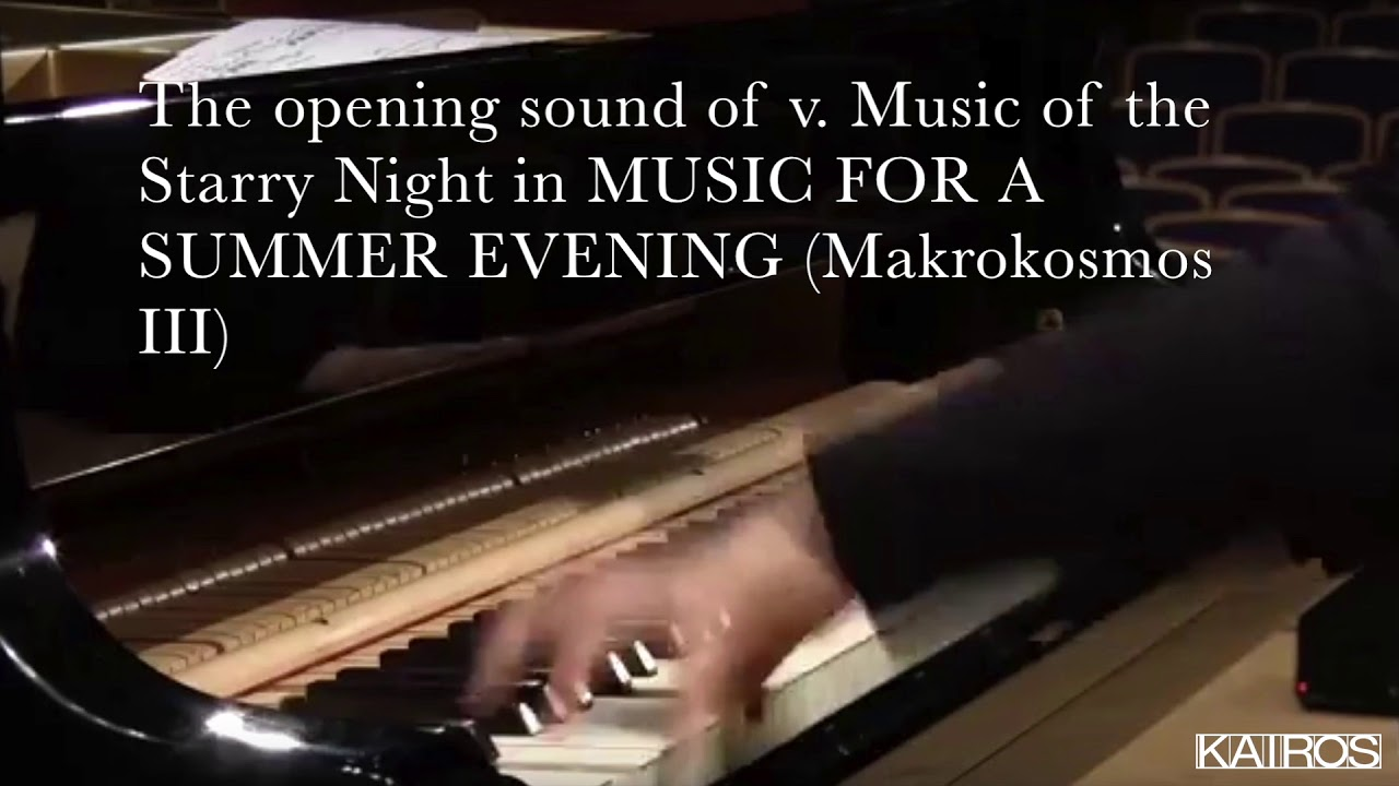 "G. Crumb's opening sound of v. ""Music of the Starry Night"" from ""Music for a Summer Evening"""