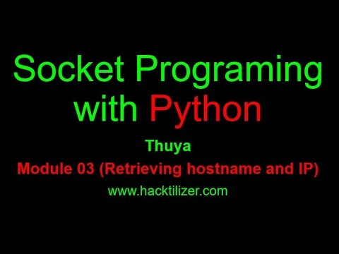 Module 03  Retrieving Hostname and IP (Socket Programming with Python)