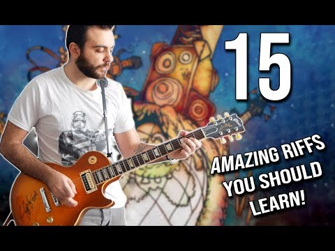 15 AMAZING Riffs You Should LEARN! (Beginner to Guitar God)