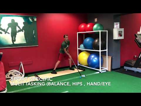 Post op hip strengthening exercises. College hockey player @ JumpStart Physical Therapy.